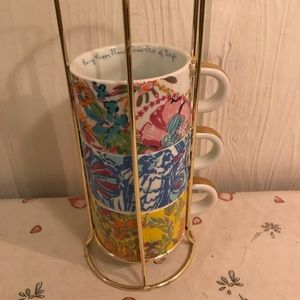 LILLY PULITZER TARGET TEA CUPS INCOMPLETE SET OF 3